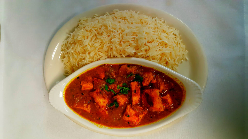 Chicken Curry with rice, afghan food